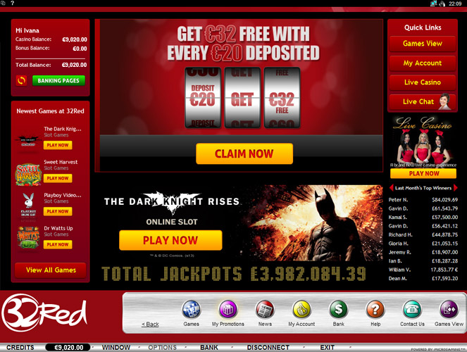 32 Red Casino Promotions