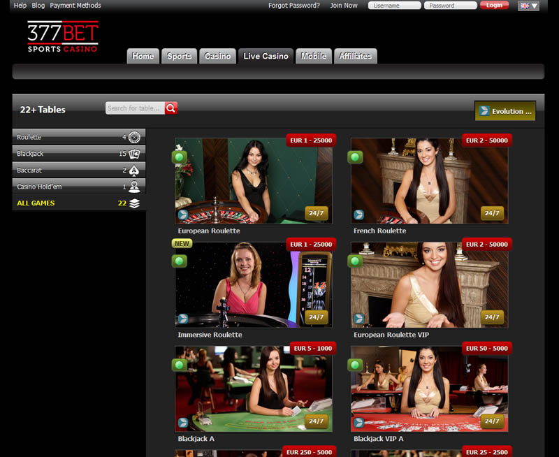 377Bet Casino Review