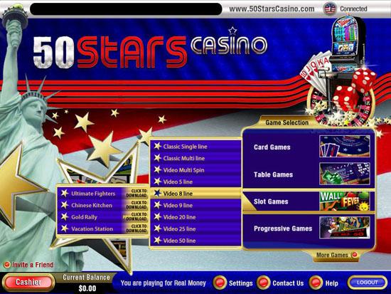 50 Stars Casino Promotions