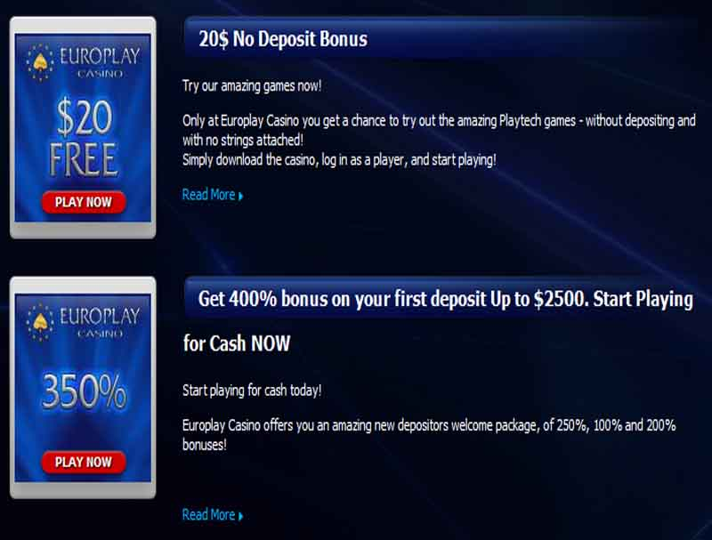 Europlay Casino Promotions