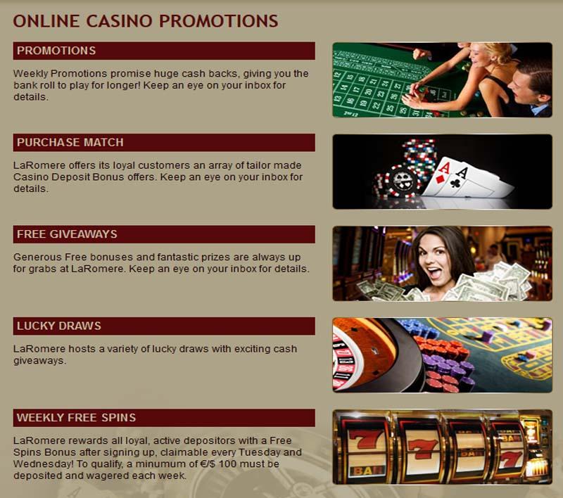 LaRomere Casino Promotions