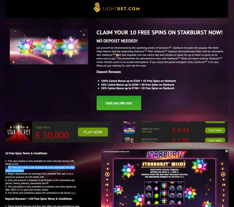 Lightbet Casino Promotions