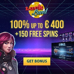 LuckLand Casino 150 Free Spins & €400 Bonus