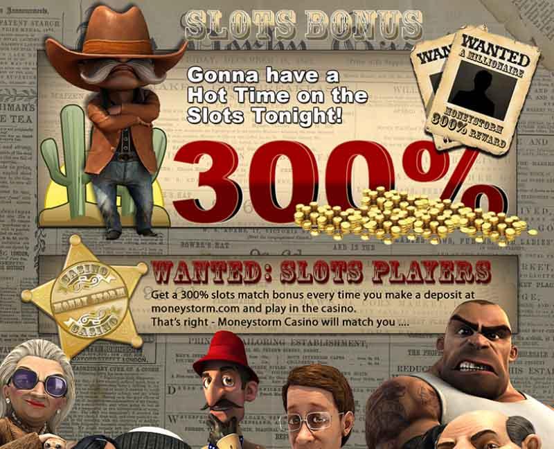Moneystorm Casino Promotions