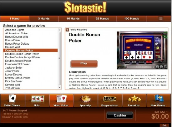 Slotastic Casino Promotions
