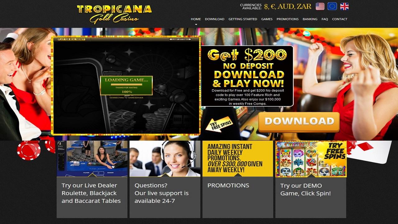 tropicana gold casino online
