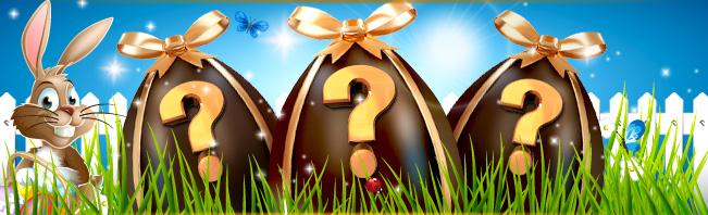 Hunt for eggs during Easter