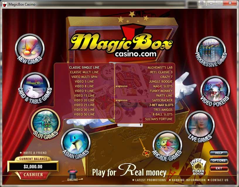 Magic Box Casino Promotions