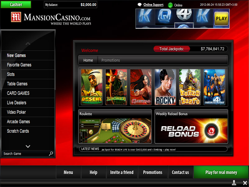 Mansion Casino Promotions