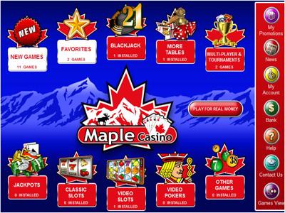 Maple Casino Bonus Promotions