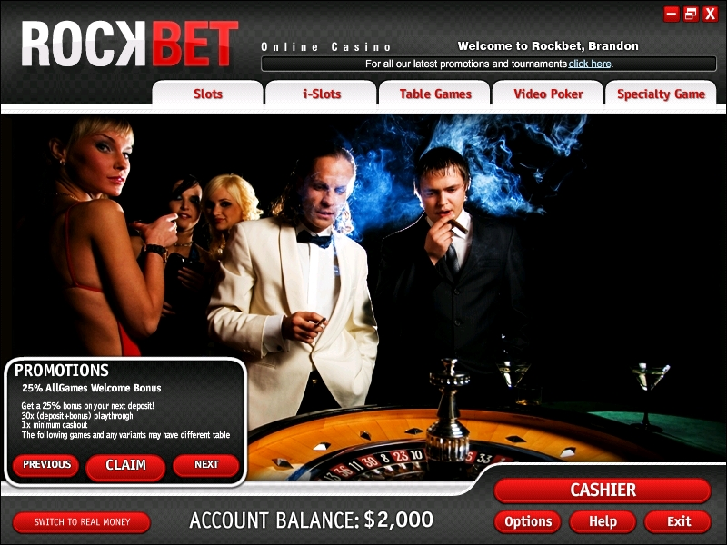 Rockbet Casino Promotions