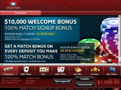 Silver Oak Casino Promotions