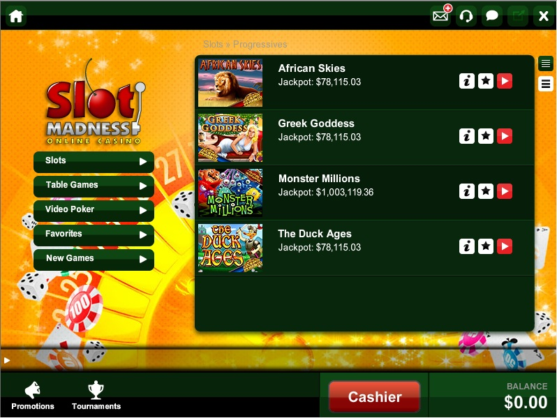 Slot Madness Promotions