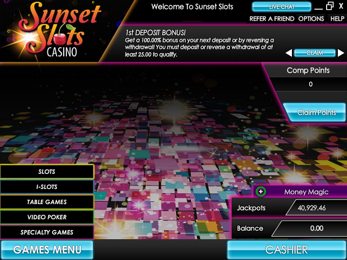 Sunset Slots Casino Promotions