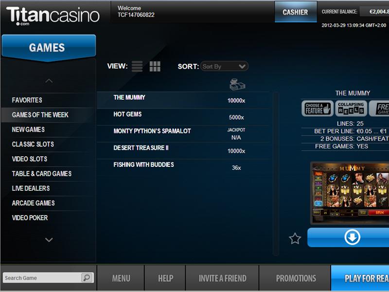 Titan Casino Promotions