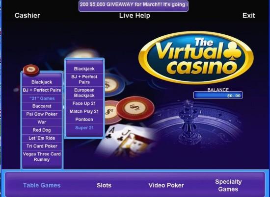 Virtual Casino Promotions
