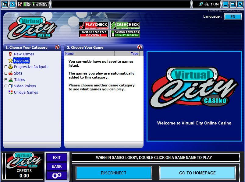 Virtual City Casino Promotions